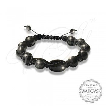 Гривна Pearls n Black Stone - Wrapped
