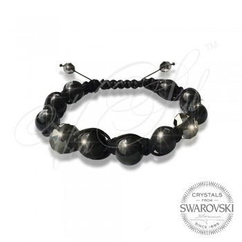 Гривна Pearls n Dark Crystals - Wrapped