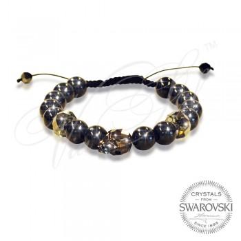 Гривна Skull n Pearls - Black