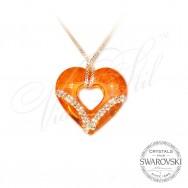 Колие - Сърце Липсваш Ми - Оранжево