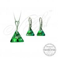Комплект Бермудски Триъгълник с кристали Сваровски
