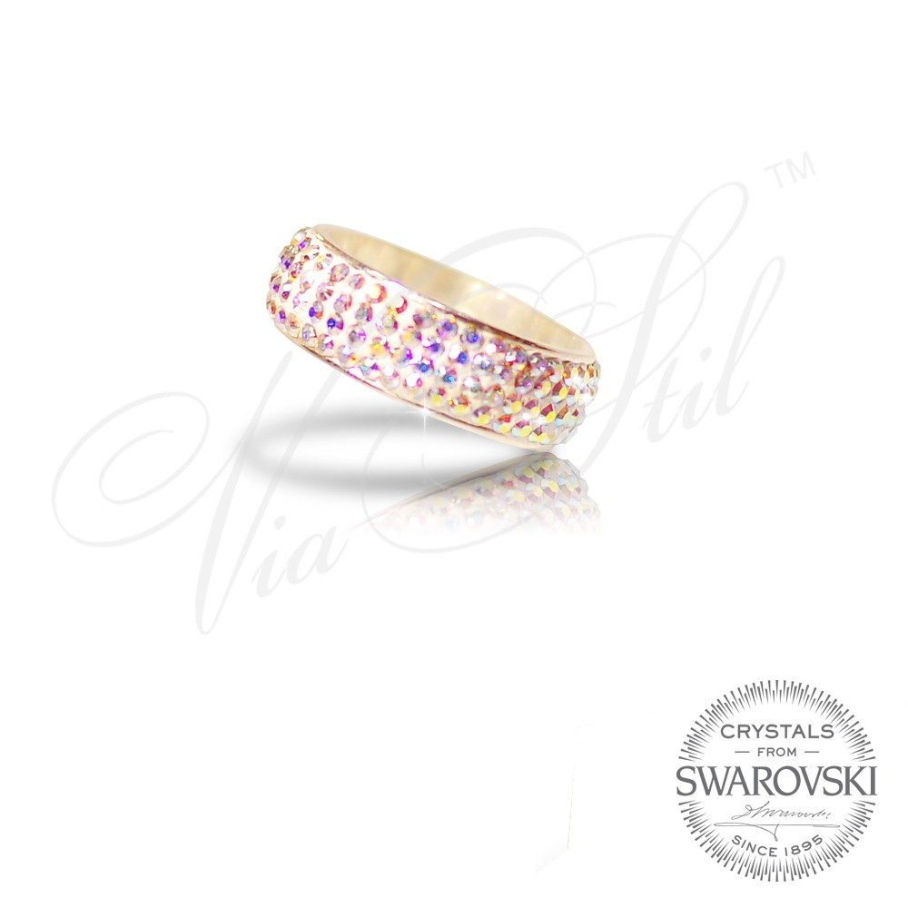 Via Stil™ - Silver Ring PP with Swarovski crystals