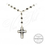Necklace Crystal Cross