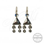 Earrings Jet Hem