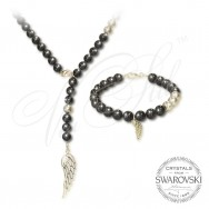 Pearl Set Angel Wings