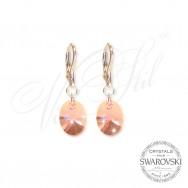 Earrings Pink Oval 6028-LR
