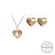 Set Hearts Rose Gold 2808