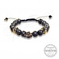Bracelet Skull n Pearls - Black