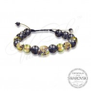 Bracelet Skull n Pearls - Green
