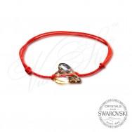 Wild Heart Bracelet with Swarovski crystals