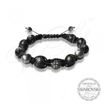 Гривна Pearls n Dark Crystal - Wrapped
