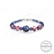 Гривна Swarovski Red and Blue