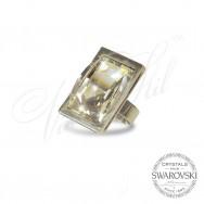 Пръстен CAVSI Бял кристал
