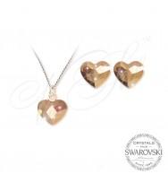 Комплект  Сърца Rose Gold 2808