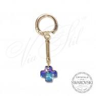 Key holder Cross Heliotrop 6866