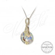 Necklace crystal circle AB