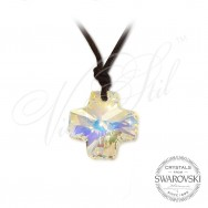 Necklace Crystal Cross AB
