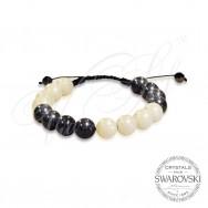 Bracelet Pearls Black n White