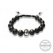 Bracelet Pearls n Dark Crystal