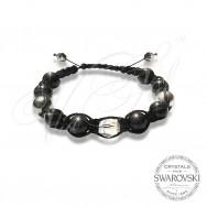 Bracelet Pearls n Light Crystal - Wraped
