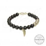 Pearl Bracelet Angel Wing