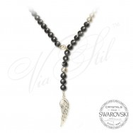 Pearl Necklace Angel Wing