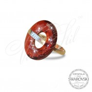 Ring Disk Red Magma